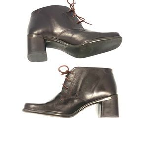 Vintage Enzo Angiolini Brown Jerra Ankle Boots